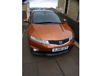 Rare Metalic OrangeHONDA CIVIC 1.8i-VTEC TYPE S GT 3DR PAN ROOF low millage new clutch sports grill