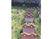 Dreadought clay ridge tiles