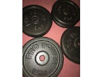 40kg cast iron & 17kg standard & 4 bars