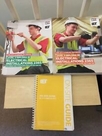 City & Guilds level 2 and 3 Electrical Installations Textbooks