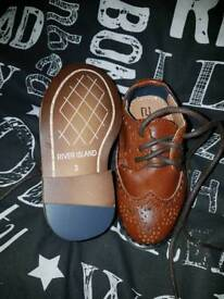 River island brown shoes babys