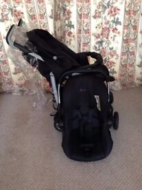 Silver Cross 3D Pram and Pushchair Travel System with Silver Cross Ventura Plus Infant Car Seat