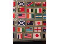 30 x Small material flags