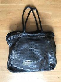 JAS M.B. LONDON Unisex Black Leather Hand Made XL Soft Tote Shopper Unisex