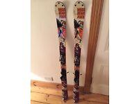Women's K2 twintip skis + Marker bindings