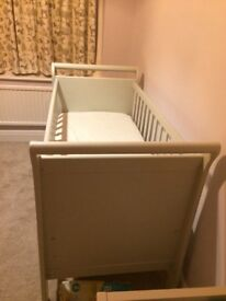 Brand new unused Mamas and Papas Mia Sleigh cot and mattress