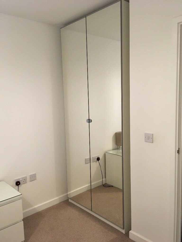 IKEA PAX double mirrored wardrobe