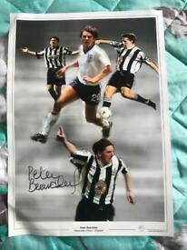 Peter Beardsley hand signed montage (very big) with coa