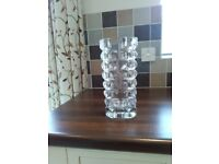 Cut glass vase for sale
