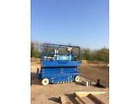 Scissor Platform Lift UpRight X26, Year 2008. Also Genie lift SLA 25.