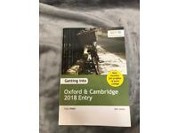 OXFORD AND CAMBRIDGE ENTRY GUIDE 2018 ENTRY