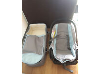 Baby pram, car chair and carry cot