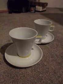 Dolce gusto cappuccino cups and saucers