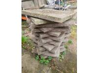 2 piles of small paving stones
