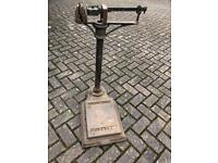 Antique Arnold & Sons scales, includes original weights