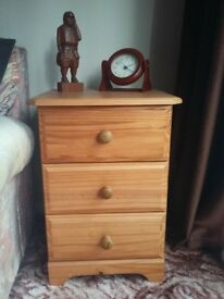 Pine drawers two available perfect bed side tables