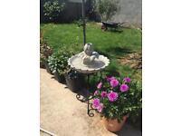 Solar power garden fountain only £50