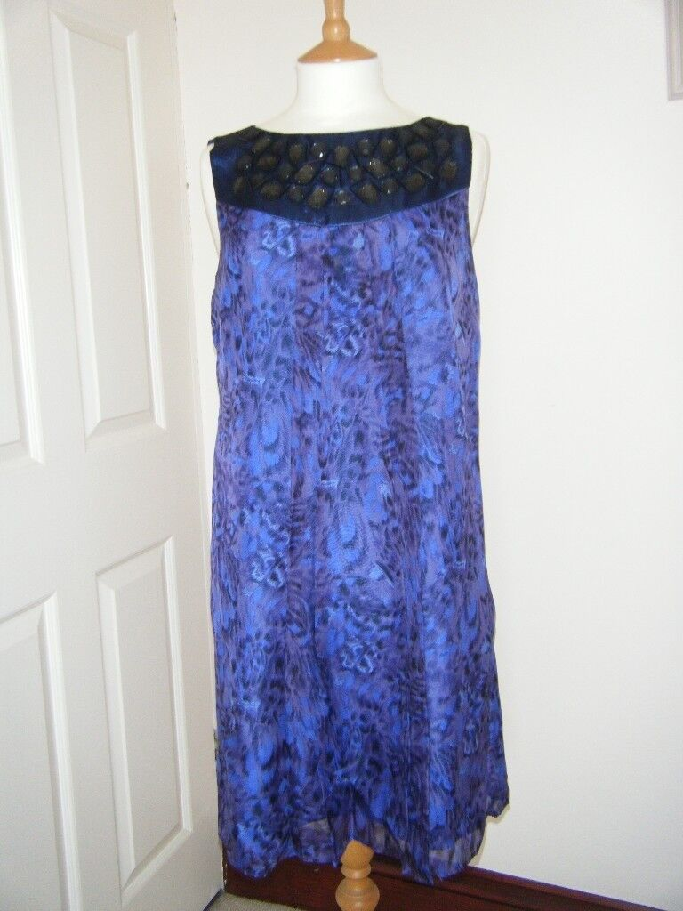 MONSOON SILK DRESS SIZE 14 WITH MATCHING BAG | in Clacton-on-Sea ...