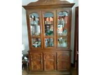 Wood & glass storage cabinet