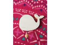 Gisela Graham coat hook kids/bedroom/bathroom cute blue sleeping whale