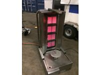 LPG Archiway 4 burner Donner Kebab Machine with 2 skewers and 2 discs