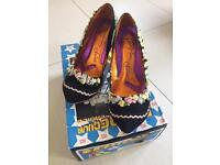 Irregular Choice Cortesan Ribbon Flower High Heel