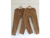 MULTI- COLOURED SUMMER PANT - SIZE 12-14