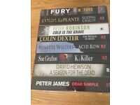 "Set of 8 books ""killer"" fiction Crime paperbacks"