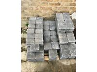 Bradstone Block Paving - Woburn Rumbled in graphite multiple sizes