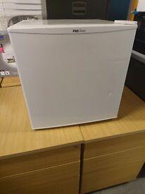 small counter-top fridge with freezer box