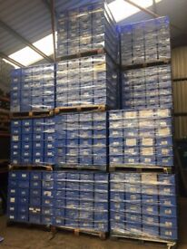 CLEAN USED SCHAFER STACKABLE STORAGE BOXES 400MM X 300MM X 200MM
