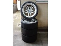 "Genuine BMW 18"" Parallel Alloy Wheels with Tyres"