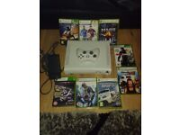 Xbox 360 wireless controller all wires an games bundle