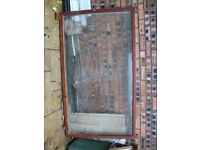 Wooden Frame with Toughened Glass Comes off a shop front Window
