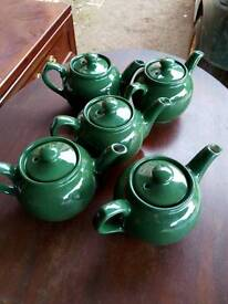 Green teapots catering
