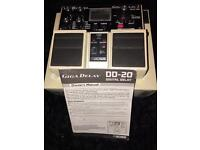 Boss DD-20 Giga delay pedal with Raygun tap tempo footswitch