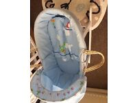 Moses Basket With rocking stand.
