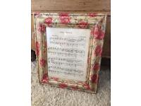 Fairy dance large framed music piece