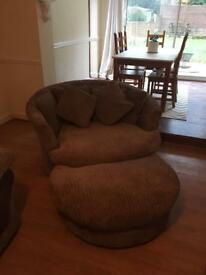 Harvey's Love Seat - Mink - All scatter cushions Included