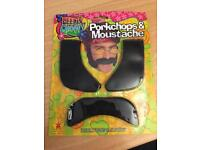 Moustache and sideburns kit