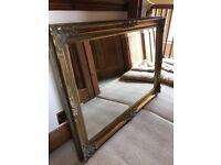 Mirror - gold ornate