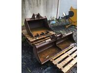 2 x Digger buckets (3ft and 5ft available)