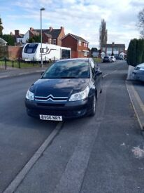 Black Citroen C4,2006,10 months MOT, good inside and out, remote central locking with 2 keys