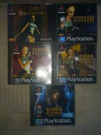 Tomb Raider PS1 games