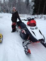 REDUCED* CUSTOM 800 SKIDOO SUMMIT & DOUBLE TILT TRAILER $5500