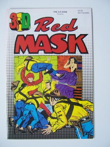 RED MASK in 3-D  // The 3-D Zone # 9  - Near Mint w/ Intact Glasses - 1987
