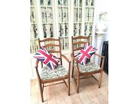 PAIR OF VINTAGE RETRO MID-CENTURY ERCOL LADDER BACK CARVER CHAIRS