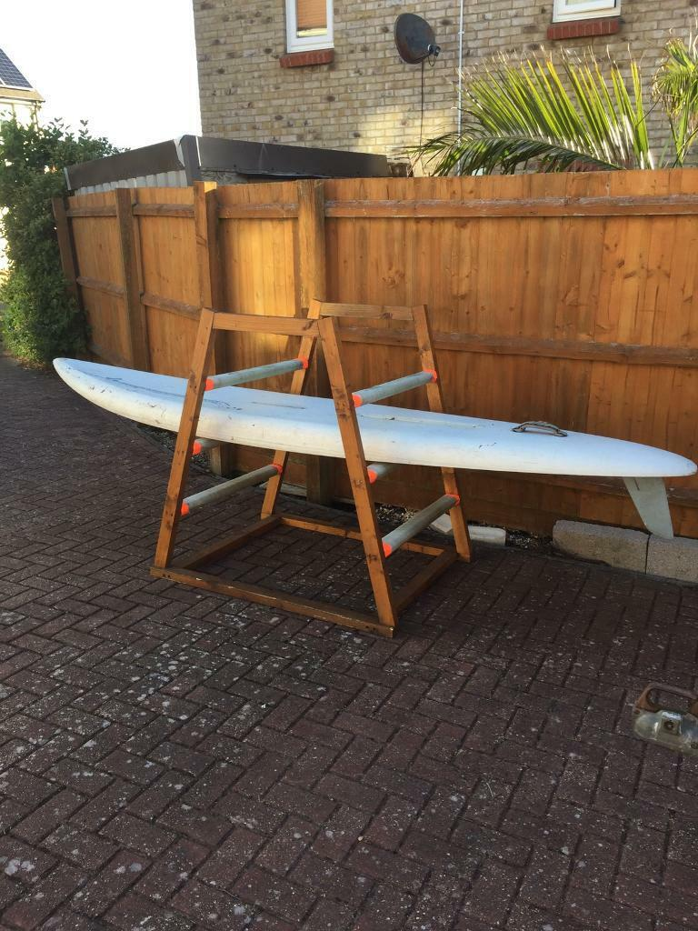 Windsurfing board paddle boardin Portland, DorsetGumtree - Windsurfing board (no sails) just board.X1 Jimmy Lewis plain white £50 11ftX1 board rack can hold 3 boards £25Great for summer fun use as paddle board.(Free delivery Weymouth and Portland)