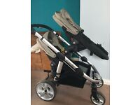 iCandy Apple2Pear Travel System Double Seat Stroller & Newborn Nest