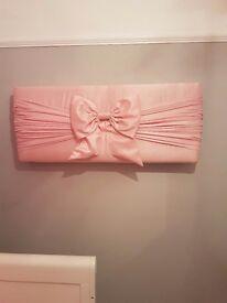 Pink pelmet